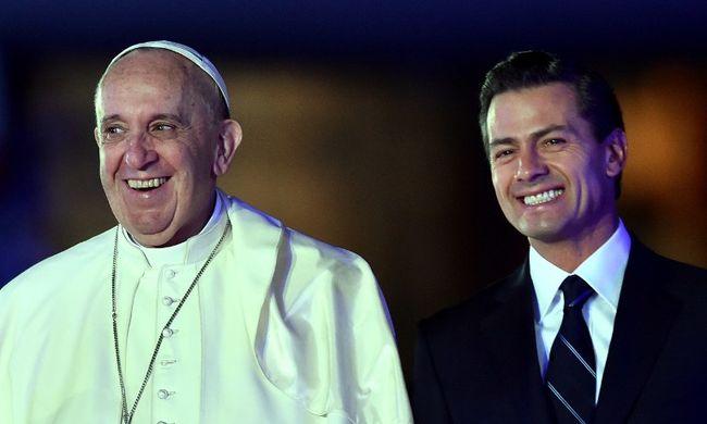 Megérkezett a pápa Mexikóba