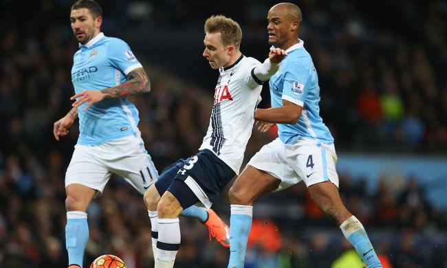 Tovább menetel a Tottenham, ezúttal a Manchester City-t győzték le