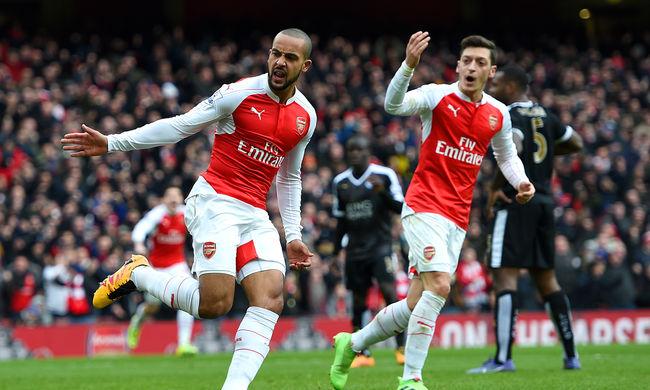 Óriási fordítás, a 95. percben nyert az Arsenal a listavezető ellen - videó