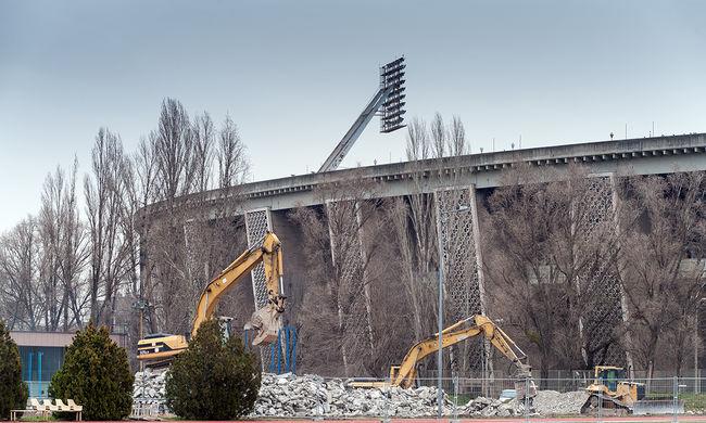 Már bontják a Puskás Ferenc Stadiont - képgaléria