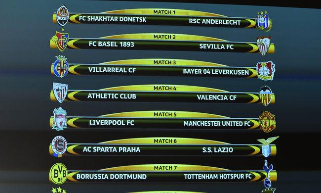Liverpool-Manchester United rangadó lesz az Európa-ligában