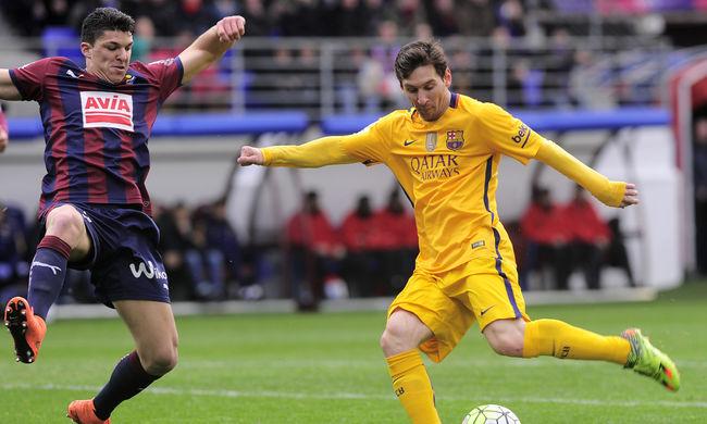 Messi két gólt lőtt, megint simán nyert a Barcelona