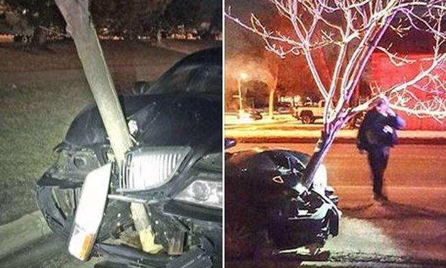 Ötméteres fa ragadt a motorházban a karambol után, így vezetett a részeg nő - videó!