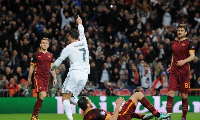 BL: Ronaldo gólt lőtt, a nyolc között a Real Madrid - videók!
