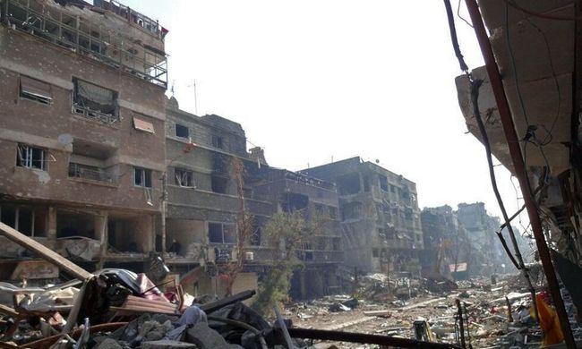 Robbanás döntött romba egy házat, sokan meghaltak Szíriában