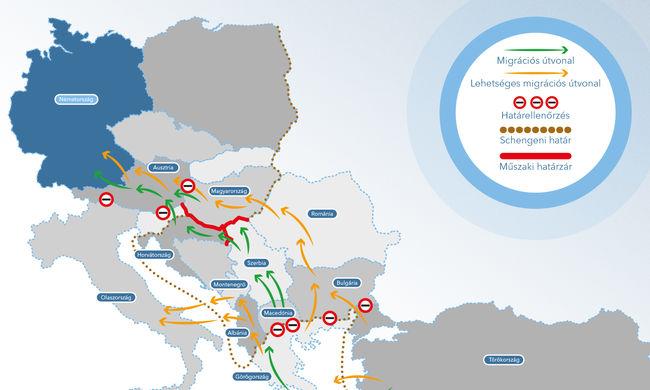 Ez lehet a migránsok új útvonala Magyarországra