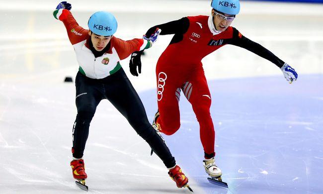 A magyar gyorskorcsolyázó bronzérmes összetettben