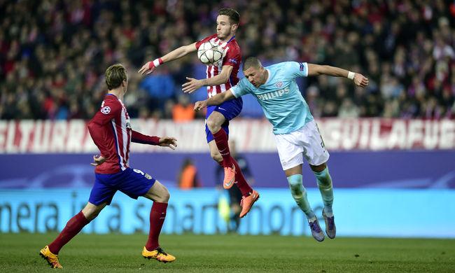BL: drámai csatában nyert az Atlético Madrid a PSV ellen