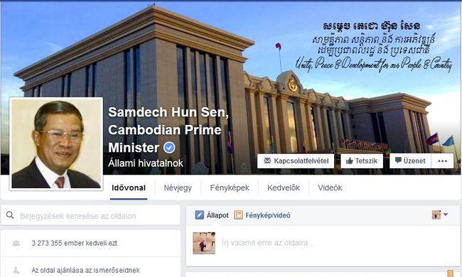Nem pénzért vette a lájkokat a Facebookon a kambodzsai miniszterelnök