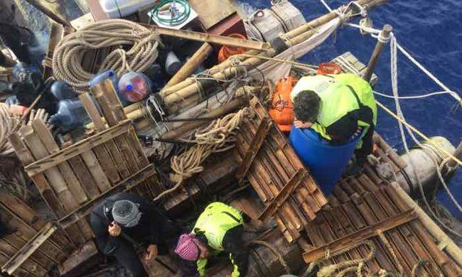 Nem sikerült megismételni a híres expedíciót: ki kellett menteni az óceánból a tutajosokat