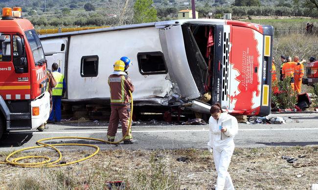 Egy magyar sérültje van a spanyol buszbalesetnek