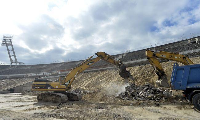 Látványos felvétel a lebontott Puskás Stadionról - videó