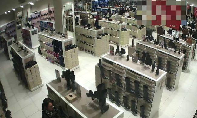 14 pár cipőt loptak el az üzletből - felismeri őket?