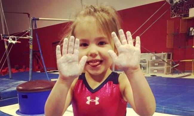 Hároméves tornászlány Amerika új kedvence - videó