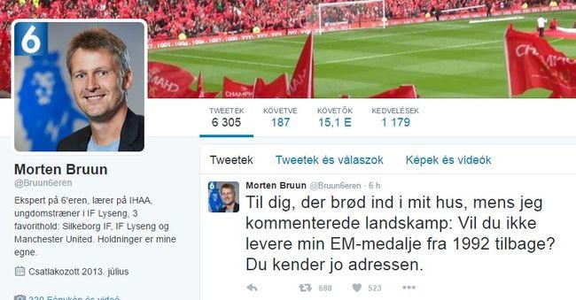 Twitteren kérte vissza ellopott Eb-aranyérmét a focista