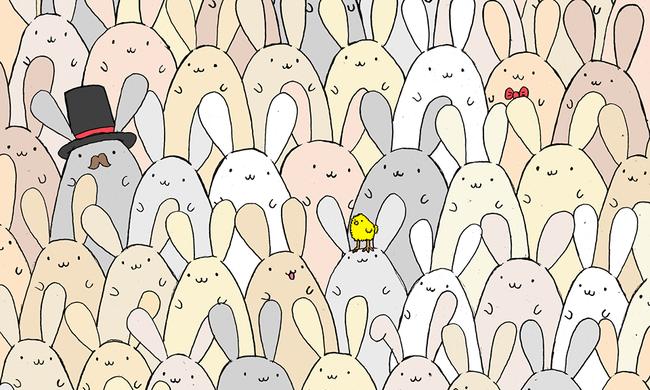 Újabb internetes rejtvény Húsvétra - Ön megtalálja a tojást a nyulak között?