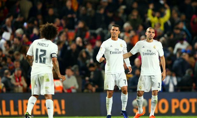 Emberhátrányban lőtt góllal nyert a Real Madrid a Barcelona ellen - videókkal
