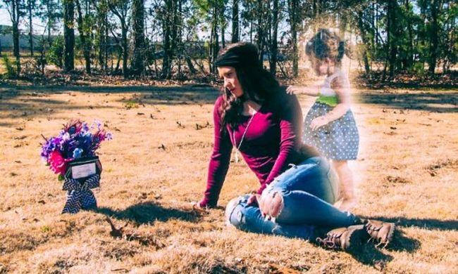 Megölte a 2 éves lányát, majd a szellemével pózolt a családi emlékfotón