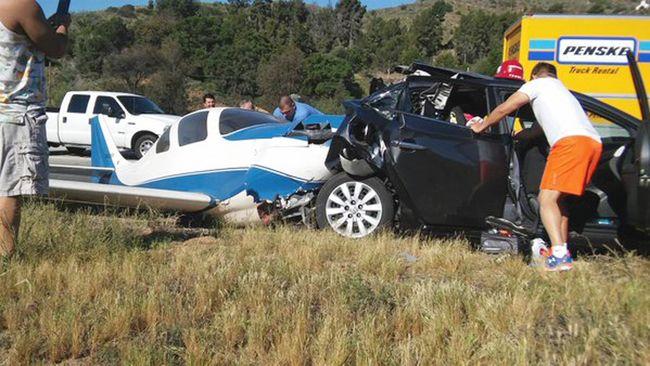 Gyorsforgalmi útra zuhant a kisrepülő