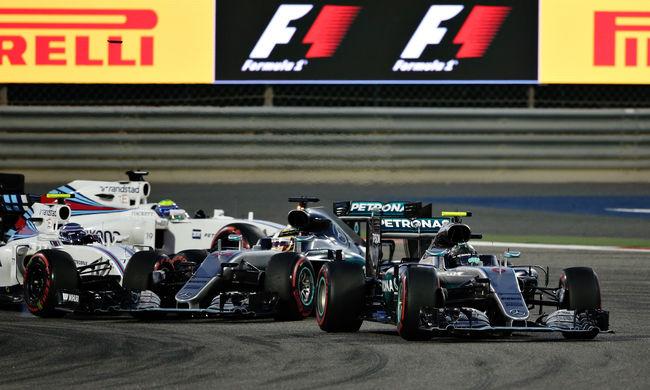 Forma-1: Rosberg nyert, Hamilton a rajtnál ütközött, Vettel el sem tudott indulni