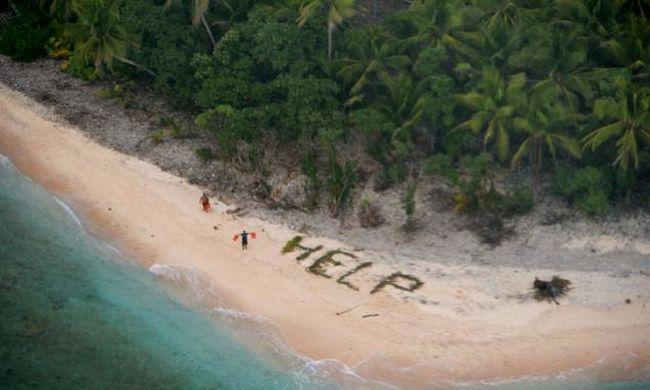 """Pálmalevelekből rakták ki a """"segítség"""" szót a hajótöröttek, három napig voltak a lakatlan szigeten"""