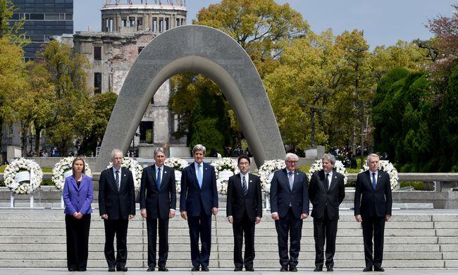 A világ nukleáris lefegyverzéséről tárgyaltak a G7-ek
