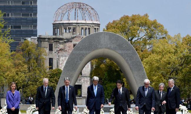 Hirosimában járt az amerikai külügyminiszter