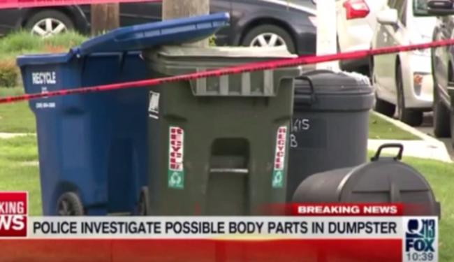 Emberi testrészeket találtak egy kukában - videó