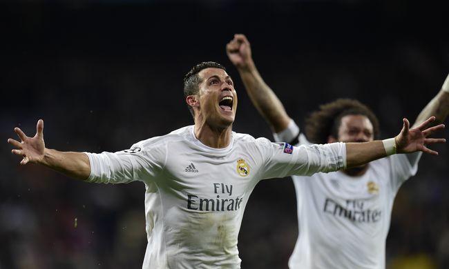 Továbbjutott a Real Madrid, Ronaldo mesterhármast szerzett - videó