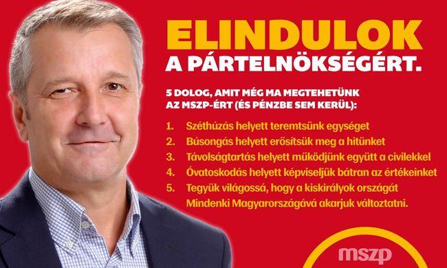 Molnár Gyula is indul az MSZP-elnökségért