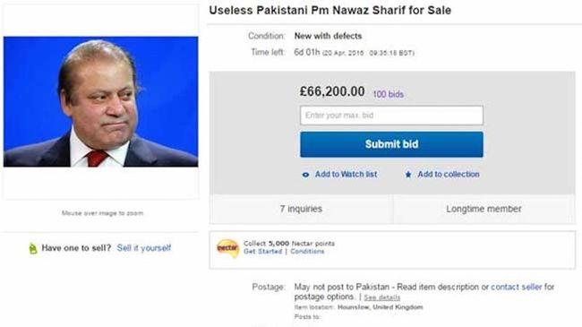Megpróbálták eladni a miniszterelnököt az interneten