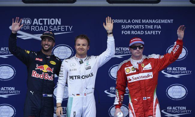 F1: Rosberg az első, Hamilton az utolsó a kínai rajtrácson