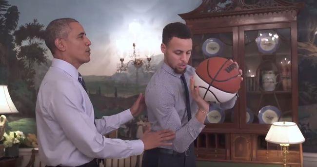 Obama tanítja dobni a világ legjobb kosárlabdázóját