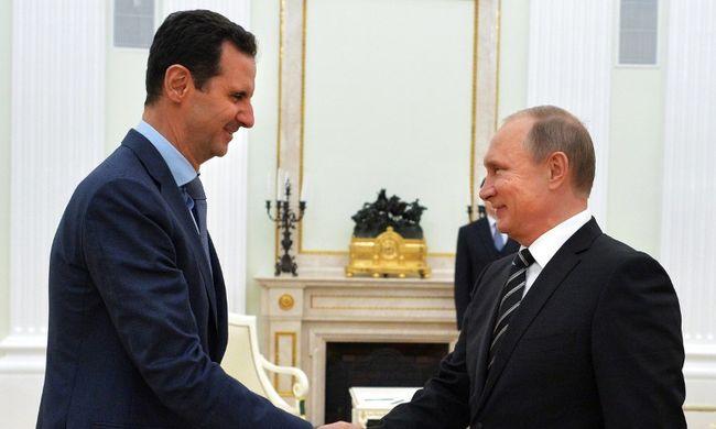 Putyin megígérte a szír elnöknek, hogy nem hagyja veszíteni a polgárháborúban