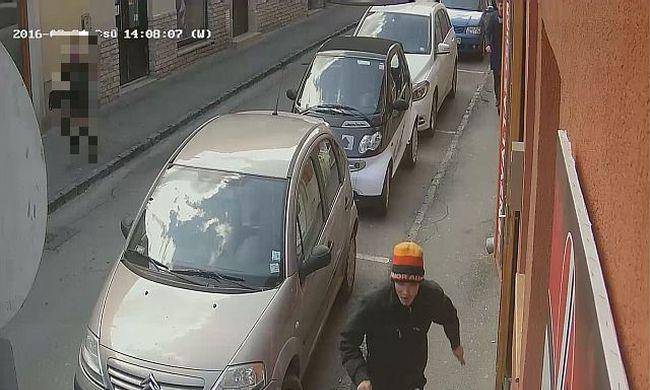 Elfutott az asztalon hagyott táskával - videó