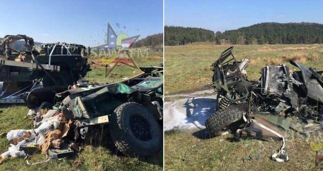 Katonai járművek potyogtak az égből Németországban - videó