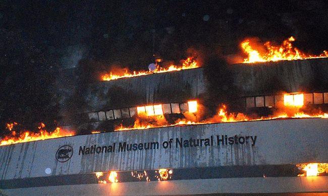 Egy teljes múzeumot semmisített meg a tűz