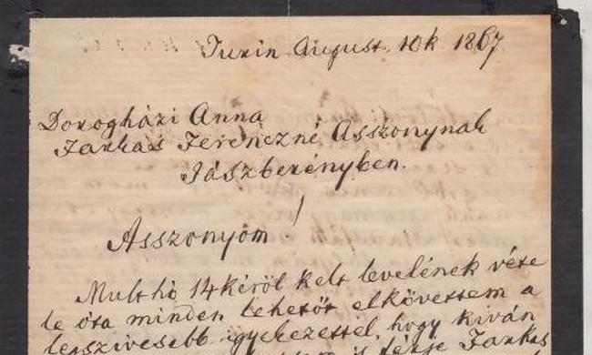 Kossuth száműzetésben írt négyoldalas levelére lehet licitálni