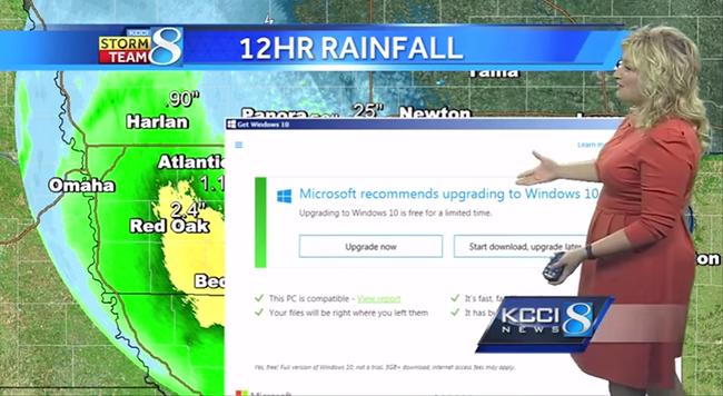 Furcsa dolog történt, miközben a tévés meteorológus beszélt - videó