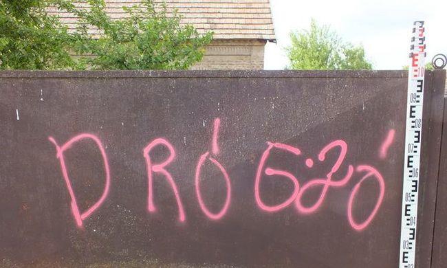 Rózsaszínnel graffitizték össze a falut