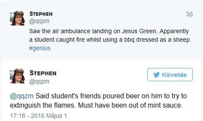 Bárányjelmezben gyulladt ki egy egyetemista a beavatási szertartáson