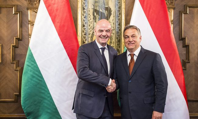 A FIFA elnökével tárgyalt Orbán Viktor