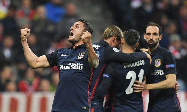 Őrült meccsen az Atlético Madrid jutott be a Bajnokok Ligája döntőjébe - videó
