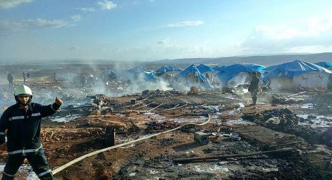 Lebombáztak egy menekülttábort, sok gyerek is meghalt