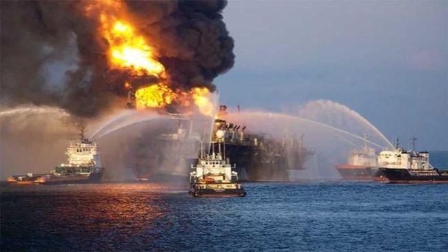 Felrobbantottak egy olajfúrót
