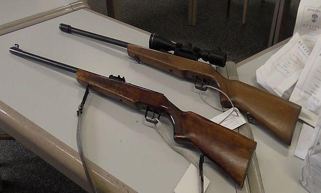 Fegyvereket foglaltak le két megyében is - videó