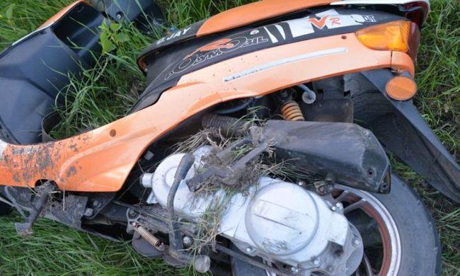 Kamionnal sodorta el a motorost, mentőhelikopterrel vitték kórházba