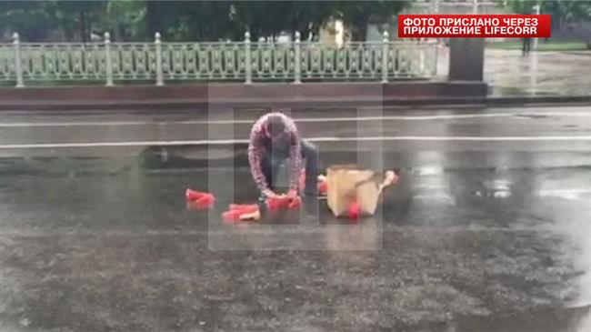 Szexuális segédeszközök okoztak dugót Moszkvában - videó