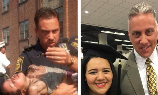 Lángoló épületből mentette ki a lányt, 18 évvel később diplomaosztójára is elkísérte