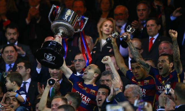 Messi két gólpasszával a Barcelona nyerte a Spanyol Kupa döntőjét - videó